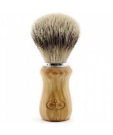 Pamatuf cu par de bursuc si maner din lemn de maslin Omega Super Badger - 6832 - Pamatufuri