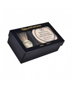 Set cadou Taylor of Old Bond Street cu pamatuf Pure Badger si crema de barbierit Mr. Taylor's T00211