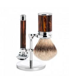 Set barbierit cu aparat ras clasic piaptan inchis S91M108