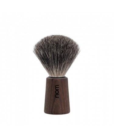 Pamatuf Pure Badger cu par de bursuc cu maner din lemn de frasin Theo 81 Dark Ash