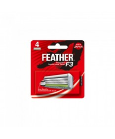 Rezerve lame de barbierit 4 bucati Feather F3