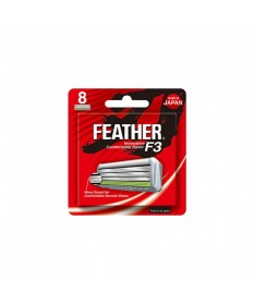 Rezerve lame de barbierit 8 bucati Feather F3