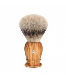 Pamatuf cu par de bursuc Silvertip Badger si maner din lemn de maslin Muehle Classic 93 H 250