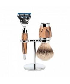 Set de barbierit, aparat de ras compatibil Gillette Fusion, pamatuf bursuc, Muehle Stylo S 091 H 72 F