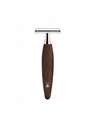 Aparat de ras clasic Safety Razor cu maner din lemn de stejar mlastina piaptan inchis Kosmo R 873 SR