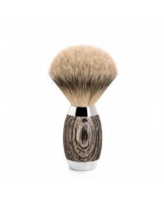 Pamatuf Silvertip Badger cu par de bursuc si maner din lemn de stejar de mlastina si argint 493 ED 3 - Pamatufuri