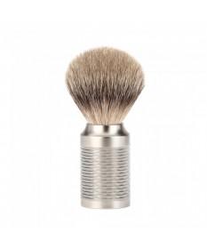 Pamatuf Silvertip Badger cu par de bursuc si maner de otel Muehle Rocca 091M94